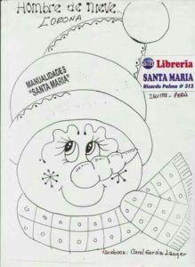 Moldes de muñecos navideños 2019 sencillos - Ideas Bonitas Para Christmas Applique, Christmas Embroidery, Felt Christmas, Christmas Snowman, Christmas Ornaments, Christmas Templates, Christmas Projects, Holiday Crafts, Felt Crafts Patterns