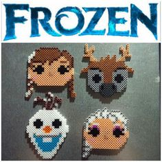 Funko Pop inspired Frozen magnets perler beads by  perler_magic_geek