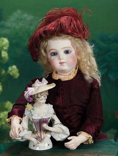 """Very Beautiful French Bisque Bebe Brevete by Leon Casimir Bru,Size 3 19"""" (48 cm.)"""