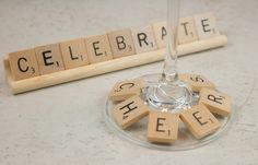 Scrabble lovers unite! Letter #wine charms are practical and can be used for a quick game!