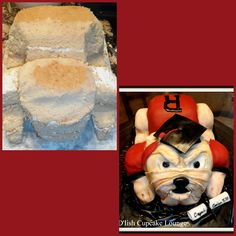 Bulldog Graduation cake by D'lish Cupcake Lounge, Houston, TX