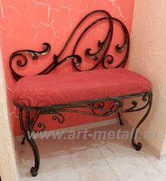 Wrought iron furniture.
