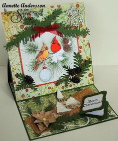 SweetStamps Monthly challenge 12/15/13-Easel Cards; DT Annette