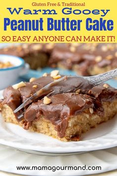 Peanut Butter lovers will rejoice with this homemade Peanut Butter Chocolate Cake. Easy-to-make old fashioned peanut butter sheet cake is covered in a 5 minute warm chocolate frosting and sprinkled with salty chopped peanuts. Peanut Butter Sheet Cake, Homemade Peanut Butter, Peanut Butter Recipes, Chocolate Peanut Butter, Chocolate Recipes, Homemade Snickers, Best Dessert Recipes, Cupcake Recipes, Easy Desserts