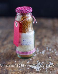 Kit riz au lait aux spéculoos : une jolie bouteille à offrir - DIY - Marcia Tack