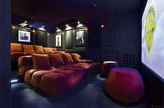 create a cinema room in my house: comfy chairs, popcorn in cupboard and projector...