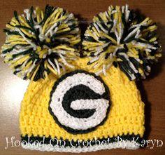 Green Bay Packers girls crochet hat on Etsy, $26.00