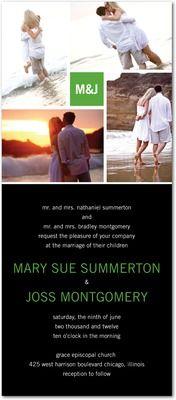 Wedding invitations, Modern Love Story