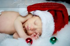 Holiday Baby Photo Ideas | santa baby | Holiday Photo Ideas