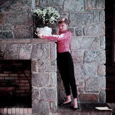 Audrey Hepburn during the production of Sabrina, 1953.