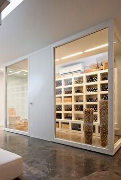 Wine room / vases full of wine corks!!!
