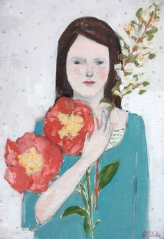 she held beauty and harmony close to her heart by amanda blake art, via Flickr