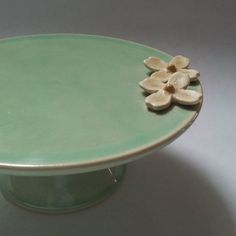 Dogwood Flower Small Ceramic Cake Stand