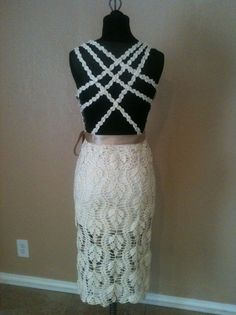 Crocheted Wedding Dress/Evening Gown by lovepetals on Etsy, $750.00