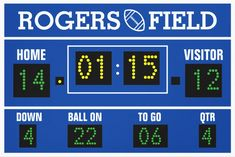 Customized Football Scoreboard Wrapped Canvas