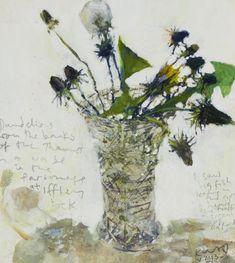 Dandelions from the banks of the Thames. Kurt Jackson. #kurtjackson