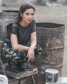 Mahira Khan exclusive photoshoot for Pepe Jeans Pakistan