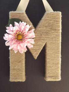 Monogram Wreath Spring 12 inch