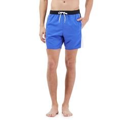 These swim shorts from Speedo are perfect for days at the pool and beach with their quick-drying fabric. Styled in blue, black and white, this pair feature logo detailing, an elasticated drawstring waist and two front pockets.