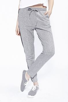 90s Lullaby - SWEET SWAG HEATHER GREY LOUNGE PANTS, $21.99 (http://www.90slullaby.com/shop/staycation/sweet-swag-heather-grey-lounge-pants/)