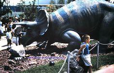 "Sinclair Dinosaur Exhibit, ""Triceratops"" 1964 New York World's Fair"