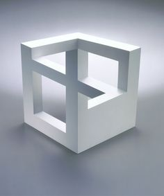 impossible 3D cube that must've been modelled then edited