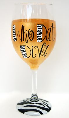 Nola Boo Hand-Painted Wine Glass
