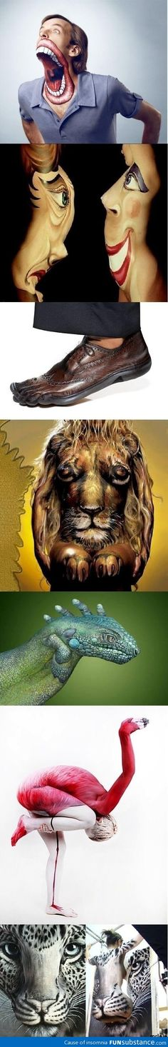 Awesome human art illusions