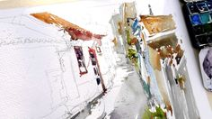 Marc Taro Holmes Watercolor Demo in Alvor (Portugal).