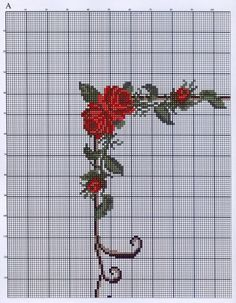 Cross-stitch Floral Border, part 1 ...  no color chart available, use pattern chart as your color guide..  or choose your own colors...   Gallery.ru / Фото #16 - ***** - celita