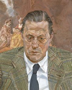 Lucian Freud - Portrait of Baron H. Thyssen-Bornemisza 1981 - 1982 Oil on canvas. 51 x 40 cm Museo Nacional Thyssen-Bornemisza, Madrid Lucian Freud Portraits, Lucian Freud Paintings, Beautiful Scenery Paintings, Berlin, Artists And Models, European Paintings, Contemporary Paintings, Art Moderne, Jackson Pollock