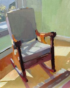 Carole Rabe. I love that you can practically feel the dappled sunlight and the comfort of the rocking chair. #simple