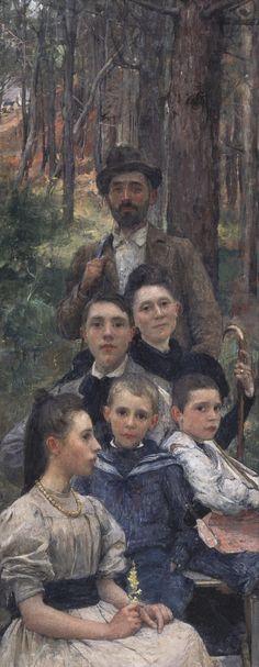 Edgard Maxence (1871 – 1954), The Roy family, 1897