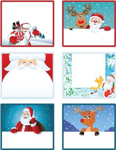 Free download super cute Christmas labels and tags for labeling your gifts for kids.