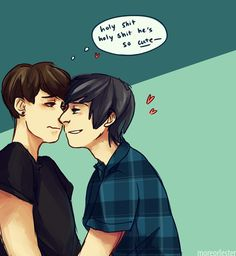 Tumblr Phan Art | some 2014!dan/2009!phil for the soul, from my stream! thanks…
