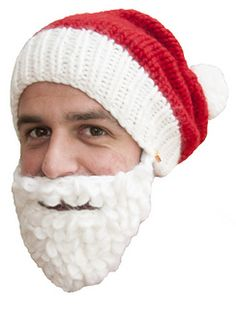 It s a knitted santa hat with detachable beard. Hand knitted by one of our  amazing knitting grannies in merino wool yarn. 9190cad6986