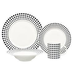 Oslo 16 Piece Dinnerware Set  This would make you look crooked!  Be fun to mix and match with other dishes