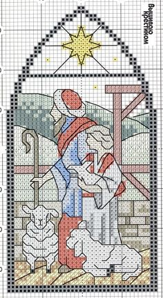 Christmas STAINED GLASS cross stitch