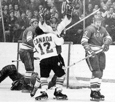 Paul Henderson scores the winning goal with only 34 seconds left in the last game of the 1972 Canada-Russia Summit Series. I remember exactly where I was when that goal was scored! I Am Canadian, Canadian History, Montreal Canadiens, Canada Hockey, Hockey Boards, Summit Series, Series 4, Toronto Star, Ice Hockey