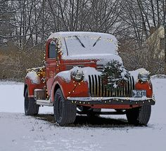 The Christmas Truck in Cape Elizabeth, Maine...