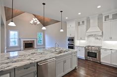 """The stunning kitchen and keeping room in our newest semi-custom home bring new meaning to the phrase """"heart of the home"""". Renovation Design, House, Renovation Project, Home, Keeping Room, Custom Homes, Design Build Firm, Kitchen, Construction Renovation"""