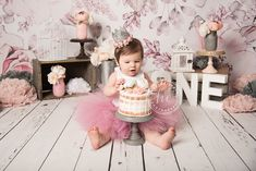 Birthday Girl Outfit - Tutu Dress - First Birthday Outfit Girl - Dusty Rose - Pink and Silver 1st Birthday Cake For Girls, 1st Birthday Photoshoot, First Birthday Outfit Girl, 1st Birthday Party Themes, 1st Birthday Cake Smash, Baby Girl 1st Birthday, Birthday Party Outfits, Birthday Bash, Birthday Decorations