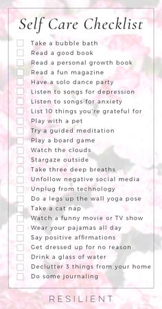 When bad days strike, it's nice to have a list of self care ideas you can pull out to help make things a little better, or even to proactively keep up with self care so you feel better in general. Here is a self care checklist and list of self care ideas. Songs For Anxiety, Depressing Songs, Workout Plan For Men, Self Care Activities, Love Tips, Bad Day, My Escape, Self Love Quotes, Self Care Routine