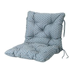 YTTERÖN Seat/back pad, outdoor IKEA Ties keep the seat/back cushion firmly in place on the chair.