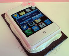 iPad birthday cake each app was made individually My Cakes