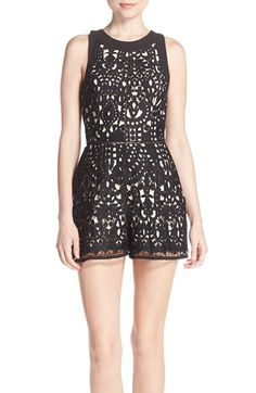 Adelyn Rae Cutout Back Lace Romper (Nordstrom Exclusive) available at #Nordstrom