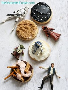 easy Star Wars landscape cookies ~ The Domestic Rebel