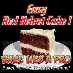 Easy Red Velvet Cake Recipe -   Please DOUBLE the red food coloring i used ! BakeLikeAPro   Please visit my Youtube channel for all my video recipes !  Easy to follow, step-by-step from beginning to end.  I make it easy for you to follow !  www.youtube.com/user/bakelikeapro Easy Red Velvet Cake, Baking Recipes, Cake Recipes, Red Food Coloring, Best Food Ever, Recipe Please, Food Videos, Good Food, Channel