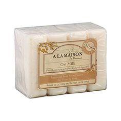 A La #Maison Oat Milk Bar #Soap - 4 per pack -- 1 each. Make your choice in our line of products of hard and liquid soaps of many scents! A la maison products are...