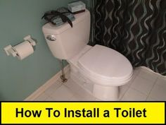It is pretty easy to take out your old toilet and install a new one.